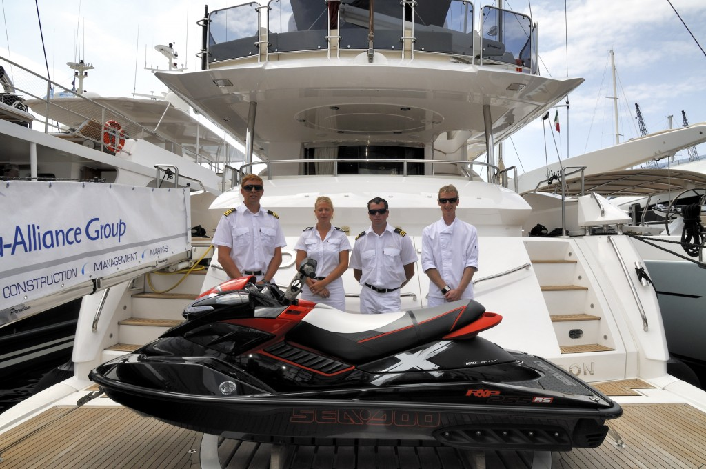 First you do you STCW training, then you work on a superyacht as crew